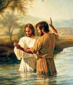 Jezus ochrzczony