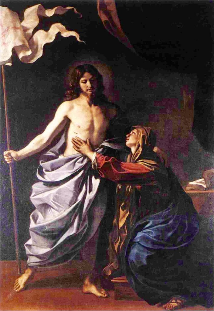 Jesus encounter with the Virgin
